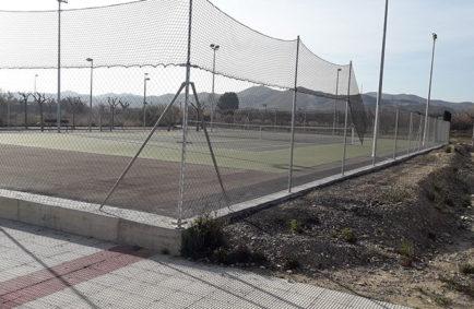 Construcción pista de Tenis El Burgo de Ebro